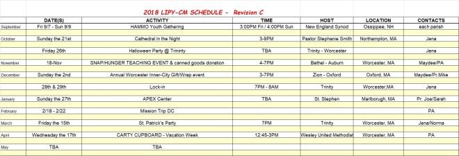 2018 LIPY-CM rev C Schedule